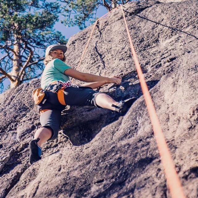 Climbing yesterday afternoon in Solvalla near Helsinki! It was hothellip