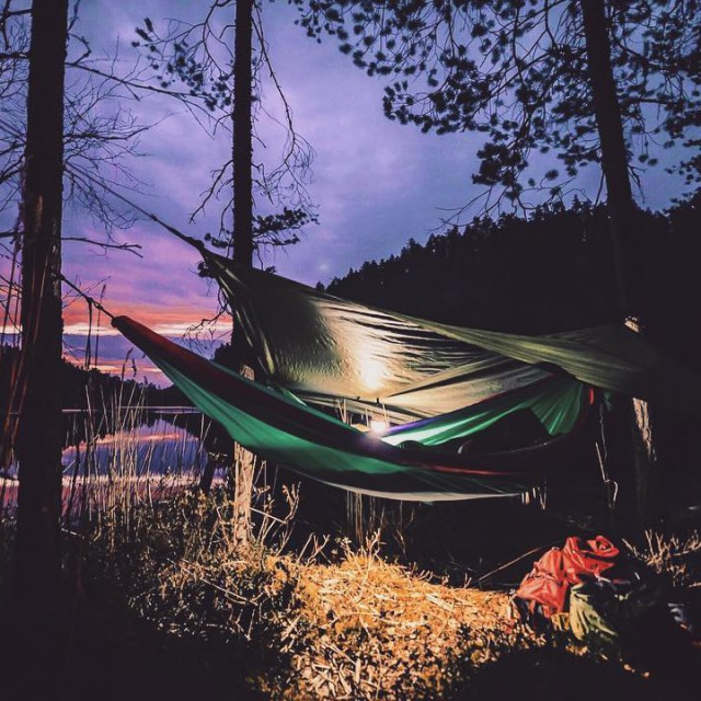 We set up our hammocks by Lake Olhava in Repovesihellip