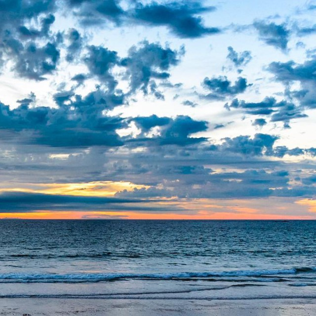 Sunset in Bretagne France stmalo normandyroadtrip bretagne sunsetatsea summerinfrance Luehellip
