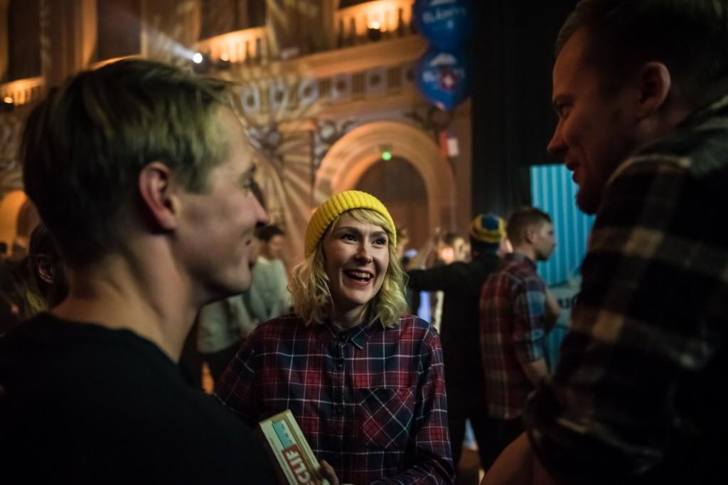 Clif Bar -lyhäriskaban voittaja Milja Fromholtz maireana. Kuva: Eino Ansio