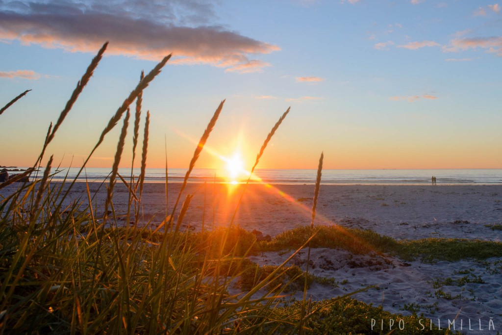 auringonlasku lofootit