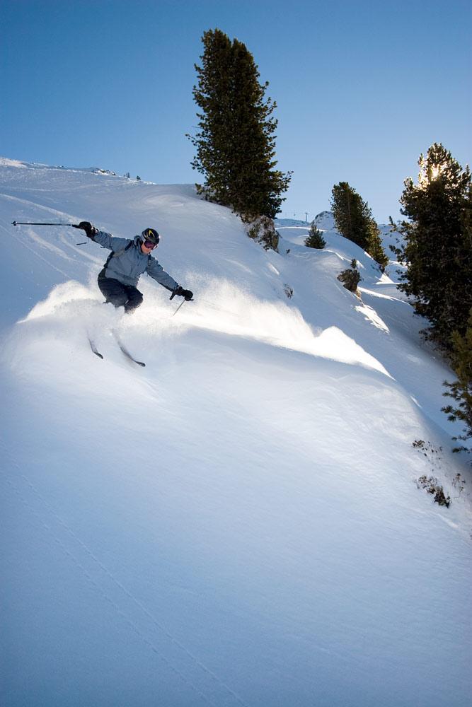 Mayrhofenin kaikilta hiihtoalueilta löytyy vähintäänkin pientä mukavaa off-pistelaskua helposti hissien lähistöllä.