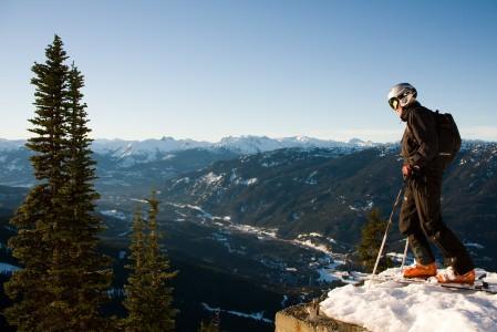 Whistlerin hiihtoalue tarjoaa Pohjois-Amerikan suurimmat korkeuserot.