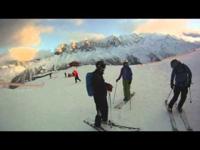 Laskemista kameran kanssa sekä Chamonix'n rinteessä että sen ulkopuolella.