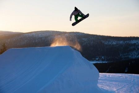 Levin snow park on monipuolinen ja useimmiten mallikelpoisessa kunnossa.