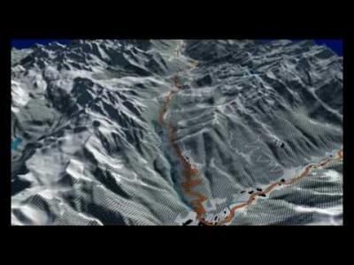 Madonna di Campiglion hiihtoaluetta ja rinnetarjontaa yläilmoista havainnollistava pätkä