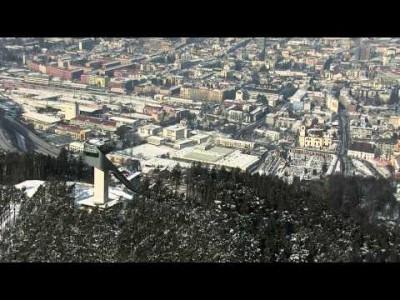 Kattava katsaus Innsbruckin maisemiin, rinteisiin, offareihin, kylään ja afteriin.