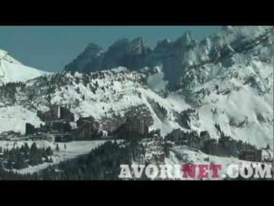 Avoriazin hiihtoalueen esittely suhteessa ympäröivään alueeseen.