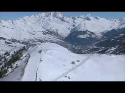 Paradiskin hiihtoalueen maisemia lintuperspektiivistä.