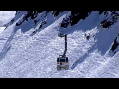 Andermattin hiihtokeskuksen maisemia hissiasemilta ja rinteistä.