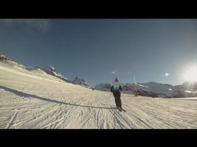 Useita vetoja Zermattin rinteissä.