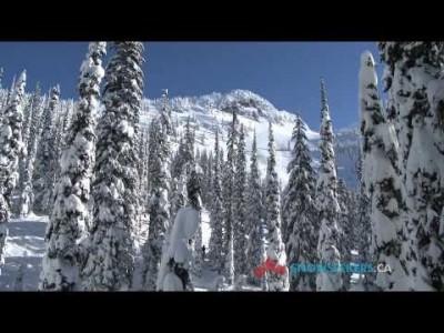 Kanadan Whitewaterin esittelyvideossa paljon puhetta paikallisesta lumesta, offareista ja afterista.