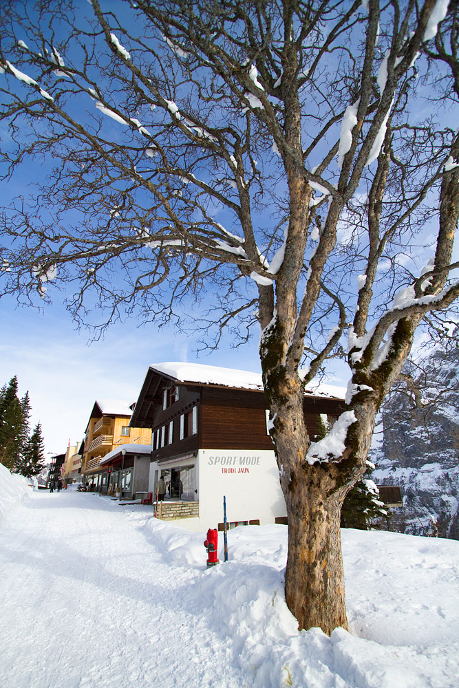 Mürrenin kylä on autoton, perinteikäs, tunnelmallisen pieni ja sijaitsee aurinkoisella harjanteella jylhän rotkon yllä. Voiko alppikylä tästä enää viehättävämmäksi muuttua?
