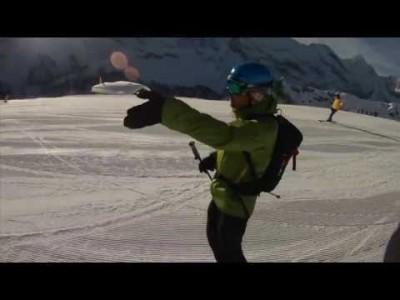 Matkailuautolla toteutettu alppikierros Jungfraun alueelle, Krippensteiniin ja Kitzbüheliin Contour-kypäräkameralla taltioituna.