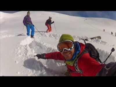 Alpeille satoi jo siinä määrin lunta, että puuteriakin löytyi 13.10.2013. Talvi tulee!