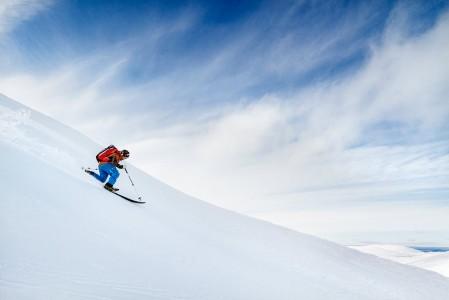 Pallaksen puuttomat tunturit ovat kuin luotu telemark-hiihtäjiä varten.