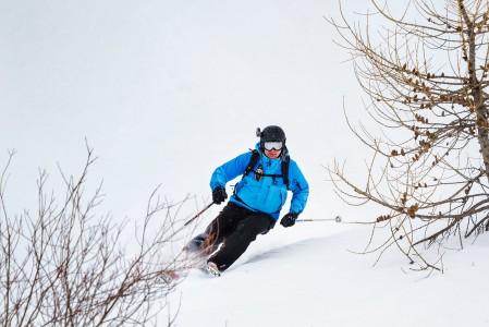 Les 2 Alpesissa ei montaa risua tulekaan vastaan sinkkikelin laskua helpottamaan. Lähes koko hiihtoalue sijaitsee puurajan yläpuolella.
