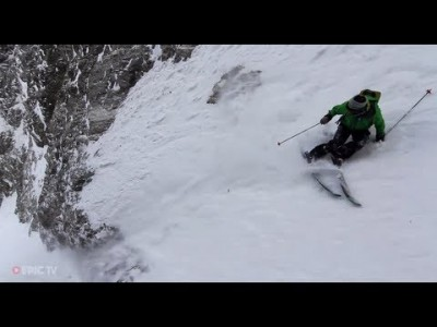 Extreme-hiihtäjä Giulia Monego laskemassa La Graven offariparatiisissa