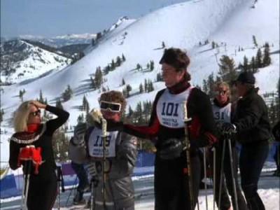 Aivoton, mutta hupaisan retro Hollywood-hiihtoelokuva vuodelta 1984 ajan hengen mukaiseen Ski, Sex and Sun -tyyliin.