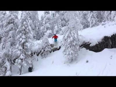Pehmeää lunta ja kalliodroppeja Kolin maastossa