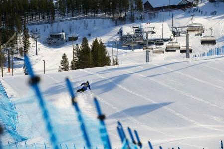 Vastakunnostettua Pyhän FIS-rinnettä on todella hauska karvailla.