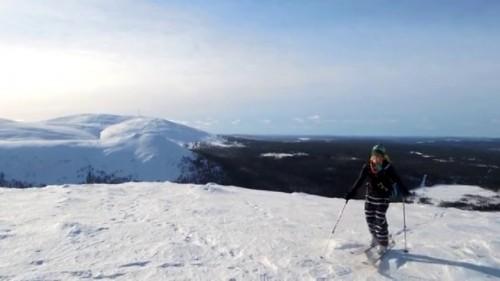 Päivä rando Kesänki tunturille Maaliskuussa 2014