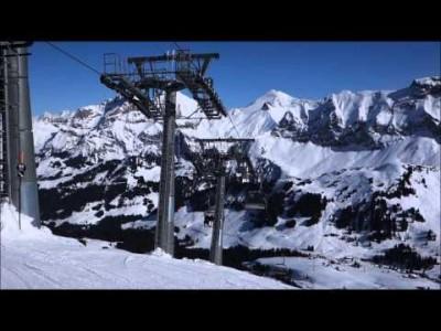 Adelboden-Lenk -hiihtoalueen ja hissien esittelyt.