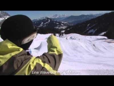 Lumilautailijat ja new school -laskijat löytävät Itävallan Hochkönigistä yhteensä kolme hyvää snow parkia.