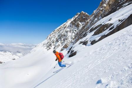 Kitzsteinhornissa on 5 merkittyä off-pistettä. Suosio ei takaa koskemattoman lumen löytymistä kauaa lumisateen jälkeen.