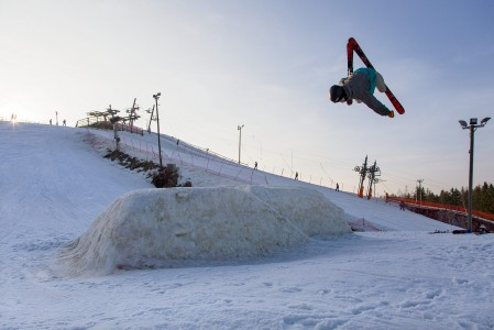 Talman snow parkin jättigäbistä tehdään usein sen tasoisia suorituksia, että niitä tekee mieli jäädä erikseen ihastelemaan.