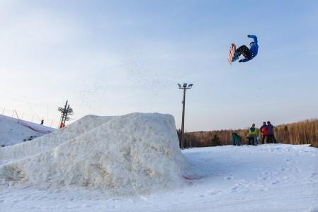 Talman snow parkin jättigäbissä nähtyä loppukeväällä 2014
