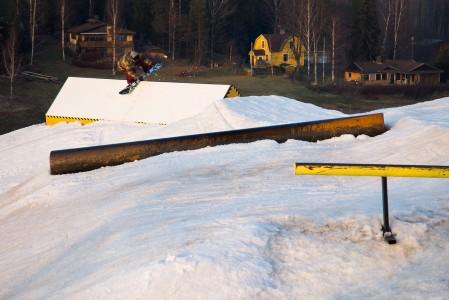Talman mainio snow park loppukeväällä 2014