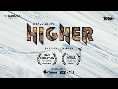 Deeper, Further, Higher -laskuelokuvatrilogian päätösosassa Jeremy Jones valloittaa kaukaisia ja massiivisia vuoria. Luvassa on isoja laskuja ja elämyksiä.