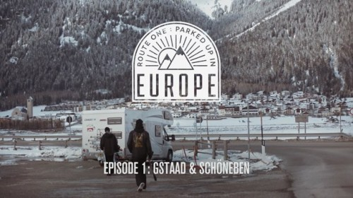 Route One -lautatiimi tekee asuntoautolla 9 päivän reissun Alppien parkkeihin. Ensimmäisessä osassa Sveitsin Gstaad ja Schöneben Snowpark Etelä-Tirolissa.