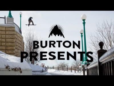 Burtonin tiimilaskijat Jeremy Jones ja Mikkel Bang ilmassa ja pehmeillä lumilla ympäri Pohjois-Amerikkaa ja Alppeja.