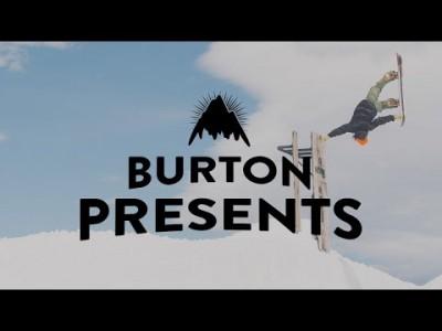 Burtonin tiimilaskijat Danny Davis ja Ben Ferguson ottavat kanssalaskijoineen mittaa ainutlaatuisesta Peace Parkista.