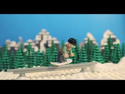 Lego-lumilautailua
