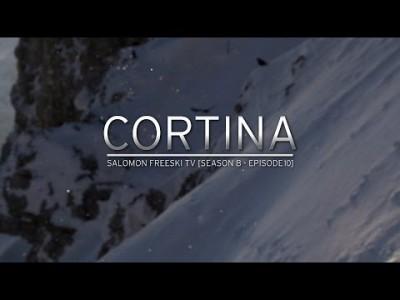 Freeski-tiimi Italian Cortina D'Ampezzon näyttävissä maisemissa.