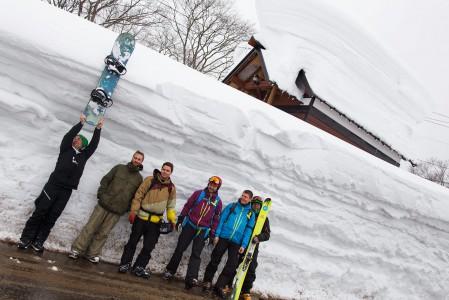 Myokon naapurissa Seki Onsenissa kerrottiin olevan käyntihetkellämme maailman syvin lumipatja, paksuudeltaan 450 cm.