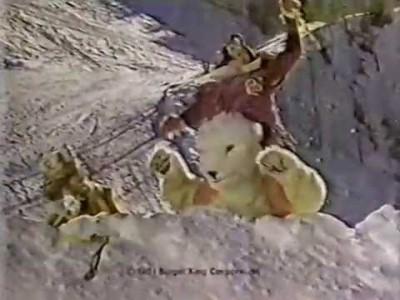 Omalaatuinen hampurilaismainos 80-luvulta.