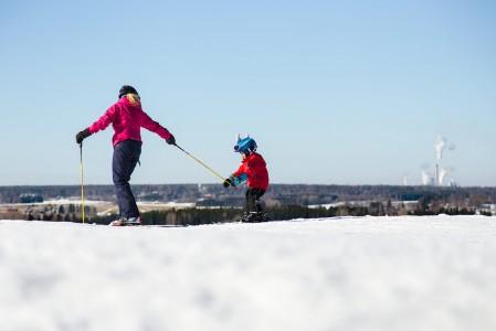 Joutsenon Myllymäki on perheille sopiva viikonlopunviettopaikka.