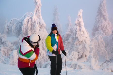 Iso-Syöte kuuluu Suomen runsaslumisimpaan alueeseen. Huipun tykkylumiset puut hakevat kuvauksellisuudessa vertaistaan
