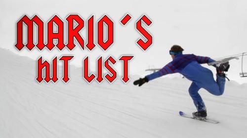 Mario Balzano näyttää pilke silmäkulmassa mallia, miten snowbladeilla lasketaan syvässä lumessa.