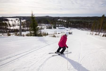 Myräkkä-Antti oli toimintansa päättäneen Hasan hiihtokeskuksen viettävin rinne, joka kumpuili kivasti.
