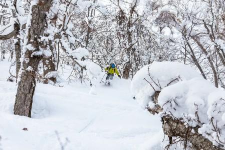 Kamui Ski Links -hiihtokeskuksen takapuolelta löytyy jonkin verran mukavaa offarimaastoa sekä skinnaajalle että takaisin hissille luisuttelijalle.