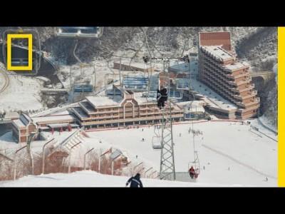 Brittien nopeimmaksi lumilautailijaksi tituleerattu Jamie Barrow käy tutustumassa vain harvoille avautuvaan Masikryongin hiihtokeskukseen Pohjois-Koreassa. Matkalla hän tutustuu myös Pyongyangin kaupunkiin.