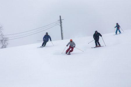 Varkauden Vattuvuoren rinteessä saa riittävästi vauhtia, vaikka korkeuseroa onkin vain 55 metriä.