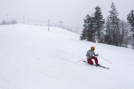 Varkaus Ski Centerin rinneprofiili sopii hyvin telemark-taitojen hiomiseen.