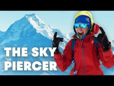 Neljän vapaalaskijan tiimi valloittaa Uuden-Seelannin korkeimman vuoren Mount Cookin suorittaakseen huipulta huiman laskun.