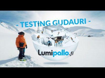 Lumipallon testiryhmä kävi katsastamassa Gudaurin tammi-helmikuun vaihteessa 2019.